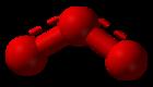 de ozonmolecule bestaat uit drie zuurstofatomen